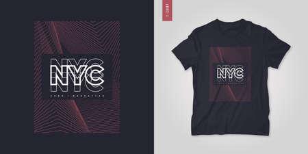New York City. T-shirt geometric abstract vector design, poster, print, template