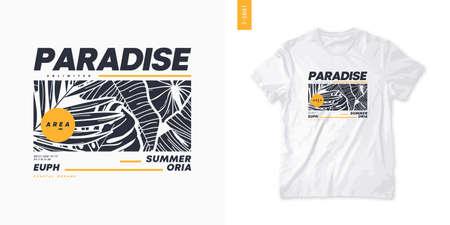 Summer graphic t-shirt design, tropical print, vector illustration 矢量图像