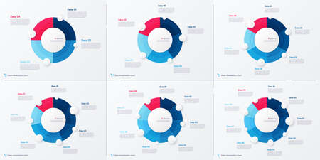 Set of vector modern circle chart infographic templates. 4-9 options 矢量图像