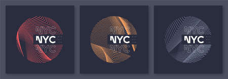 New York City graphic t-shirt abstract designs, geometric posters, vector illustrations
