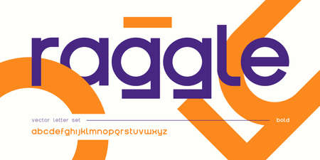 Vector geometric lowercase letter set, alphabet, font, typography