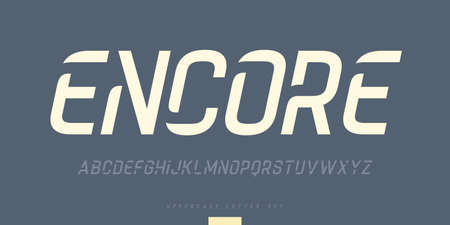 Vector stylish sans serif font, uppercase letter set, alphabet, typography