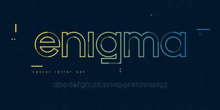 Vector linear lowercase letter set, alphabet, font, typography