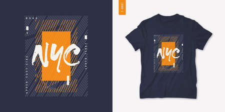 New York City. Graphic mens dynamic t-shirt design, poster, typography. Vector illustration Stock Illustratie