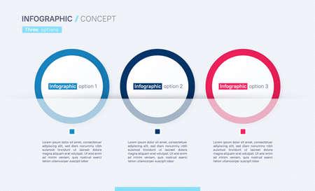 Stylish vector infographic concept template. Three options Stock Illustratie