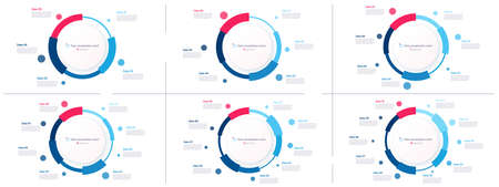 Vector pie chart infographic templates in the form of pie chart. 5 6 7 8 9 10 options Stock Illustratie