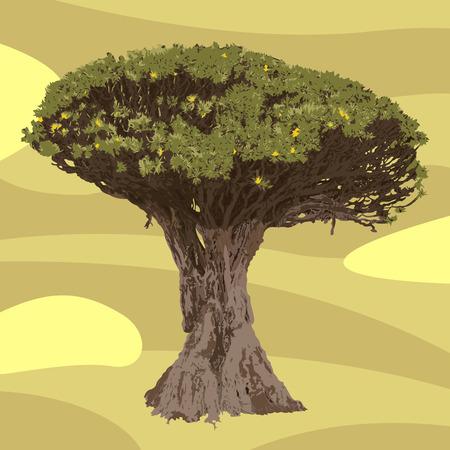 Detailed huge vector tree