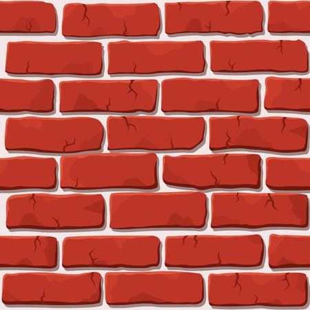 Nice vector red brick wall