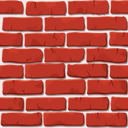 Parede de tijolo vermelho bom vetor