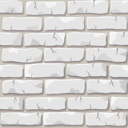 Mooi vector wit bakstenen muur naadloos vierkant patroon Vector Illustratie