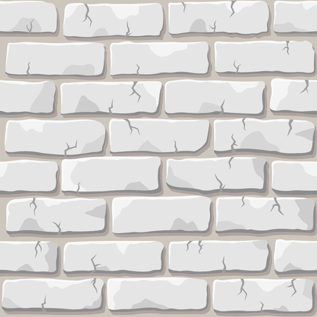 Nice vector white brick wall seamless square pattern Иллюстрация