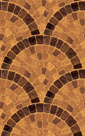 A vector seamless detailed texture with medieval mosaic rocky road