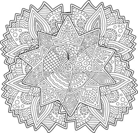 Beautiful coloring book Standard-Bild