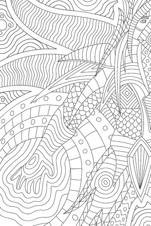 Beautiful coloring book page with cartoon wizard Stock Photo