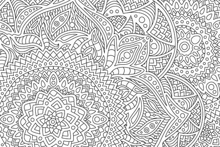 Página de libro para colorear para adultos con patrón abstracto Ilustración de vector
