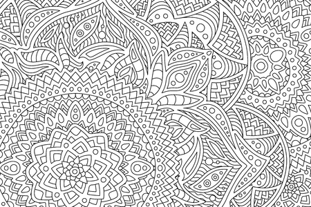 Adult coloring book page with abstract pattern