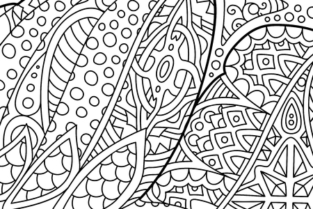 Beautiful abstract zen art for coloring book pages  イラスト・ベクター素材