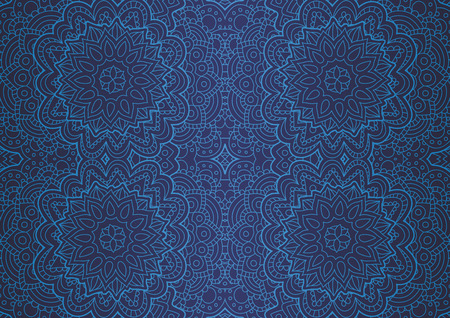 Beautiful blue art with abstract seamless blue linear pattern Vector Illustratie