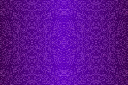 Beautiful blue background with linear oriental seamless pattern