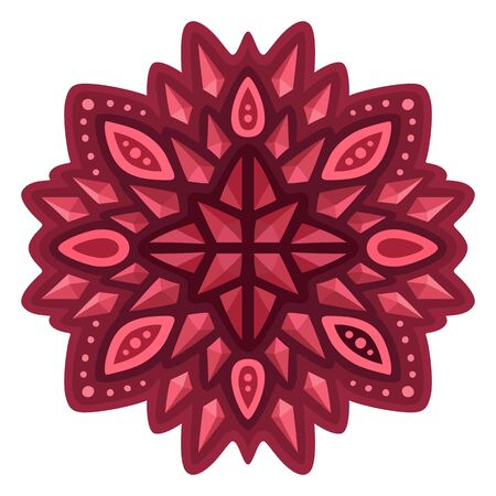 Beautiful isolated red abstract single pattern with rubies