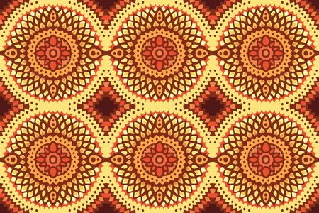 Beautiful colorful decorative background with solar seamless pattern