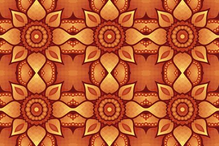 Beautiful colorful illustration with brown abstract seamless pattern Ilustrace