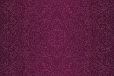 Beautiful shiny violet background with linear decorative floral pattern