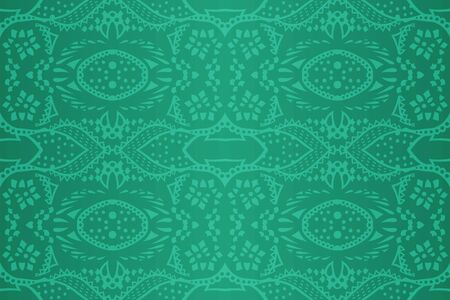 Beautiful shiny green background with abstract seamless pattern