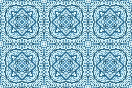 Beautiful blue web background with abstract seamless pattern