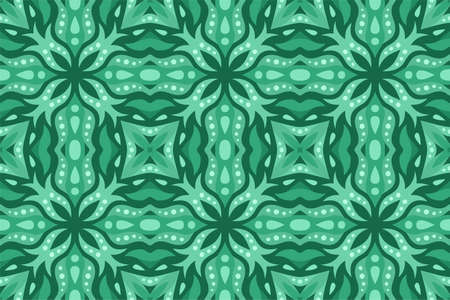 Beautiful green web background with abstract seamless tile pattern