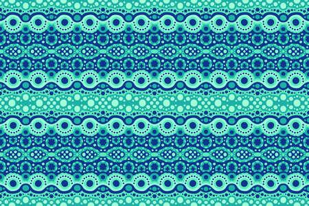 Beautiful cyan web background with abstract seamless pattern
