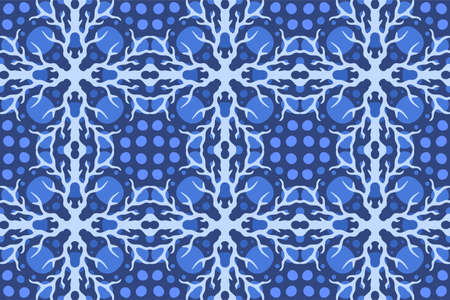 Beautiful web background with abstract blue seamless pattern with lightning Stock Illustratie