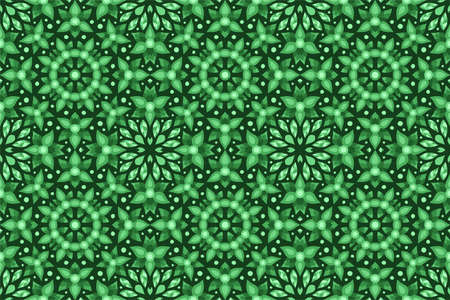 Beautiful green web background with floral seamless pattern with stylized leaves 矢量图像