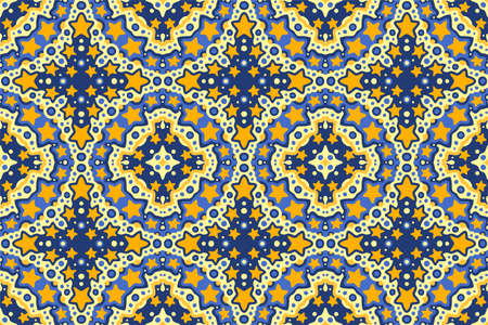 Beautiful web background with starry seamless tile pattern 矢量图像