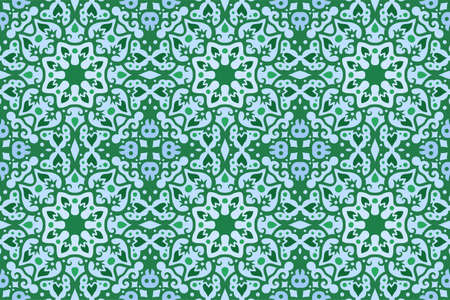 Beautiful web background with tribal seamless pattern with plants and skulls