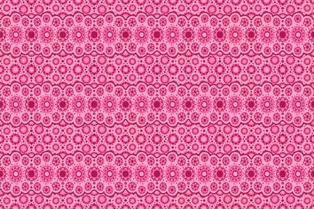 Beautiful pink eastern seamless pattern with decorative sakura flowers