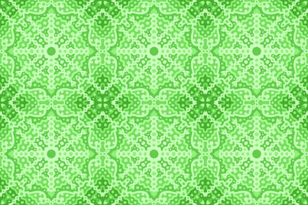 Beautiful green web background with abstract seamless pattern