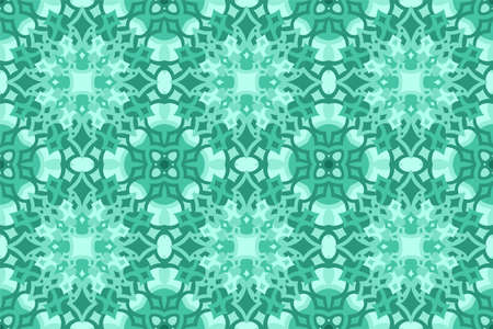 Beautiful aquamarine color web background with abstract seamless pattern