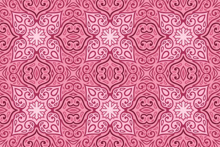Beautiful pink web background with romantic vintage seamless tile pattern