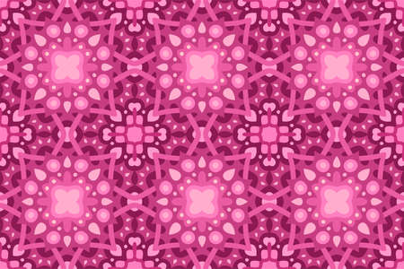 Beautiful pink web background with abstract seamless tile pattern