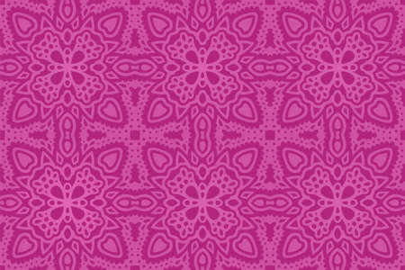 Beautiful pink background with colorful eastern tile seamless pattern 일러스트