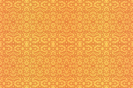 Beautiful golden background with abstract colorful tile seamless pattern