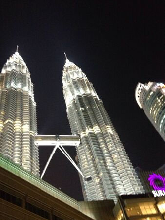 view: Night view of KLCC Malaysia