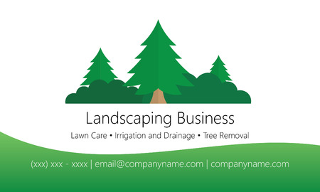 landscaping: Landscaping business card template Illustration