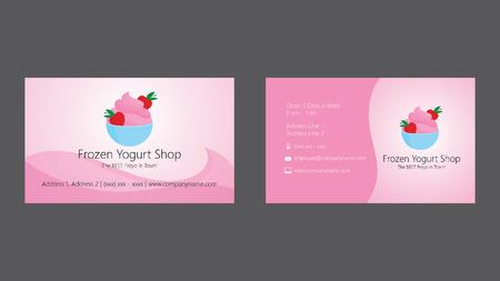 frozen yogurt: Frozen yogurt shop business card template