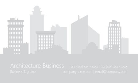 Architecture buildings business card template