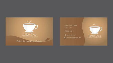 Coffee shop cafe business card template