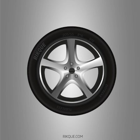 Realistic car tire