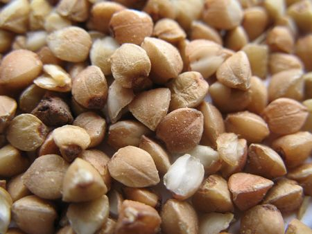 macro of buckwheat Stock Photo
