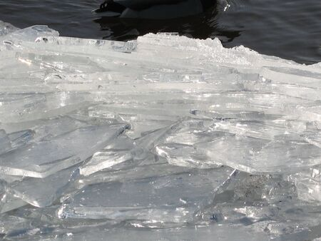 fragments: background made of fragments of ice